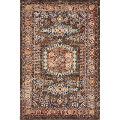 Ballys Light Brown Area Rug Rug Size: 4 x 6