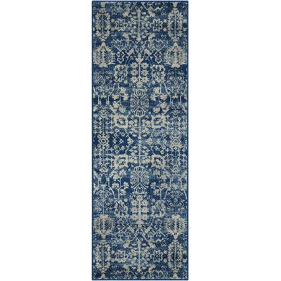 Allenvale Navy Area Rug Rug Size: Runner 2 x 59