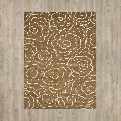 Tatyana Light Brown/Ivory Area Rug Rug Size: Rectangle 83 x 11