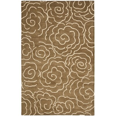 Tatyana Light Brown/Ivory Area Rug Rug Size: Rectangle 5 x 8