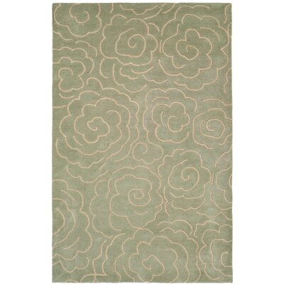 Tatyana Soft Light Blue/Ivory Area Rug Rug Size: Rectangle 36 x 56