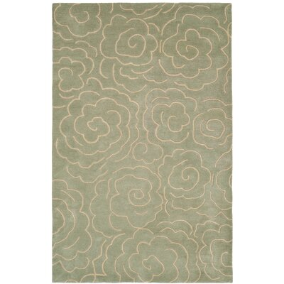 Tatyana Soft Light Blue/Ivory Area Rug Rug Size: Rectangle 5 x 8