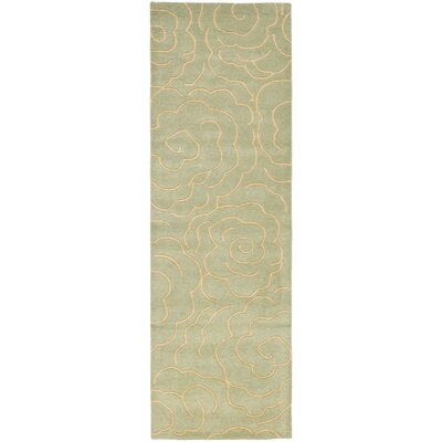 Tatyana Soft Light Blue/Ivory Area Rug Rug Size: Runner 26 x 8