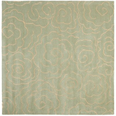 Tatyana Soft Light Blue/Ivory Area Rug Rug Size: Square 6