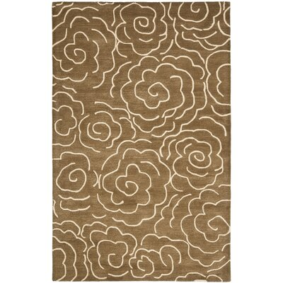 Tatyana Light Brown/Ivory Area Rug Rug Size: Rectangle 76 x 96