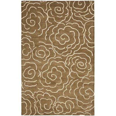 Tatyana Light Brown/Ivory Area Rug Rug Size: 36 x 56