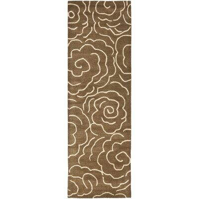 Tatyana Light Brown/Ivory Area Rug Rug Size: Runner 26 x 8