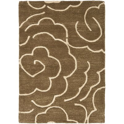 Tatyana Light Brown/Ivory Area Rug Rug Size: 2 x 3