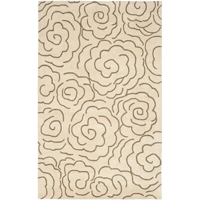 Tatyana Beige Area Rug Rug Size: Rectangle 2 x 3
