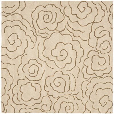 Tatyana Beige Area Rug Rug Size: Square 6