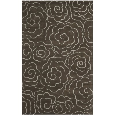 Tatyana Chocolate/Ivory Area Rug Rug Size: Rectangle 5 x 8