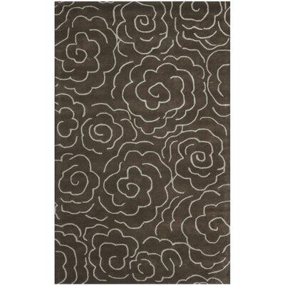 Amara Chocolate/Ivory Area Rug Rug Size: 5 x 8