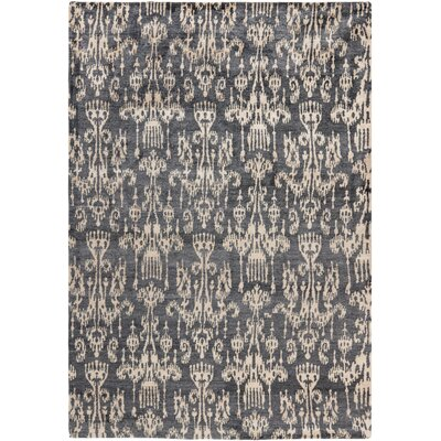 Heloise Hand-Knotted Coal Area Rug