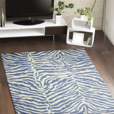 Abhay Hand-Tufted Blue Area Rug Rug Size: Rectangle 56 x 86