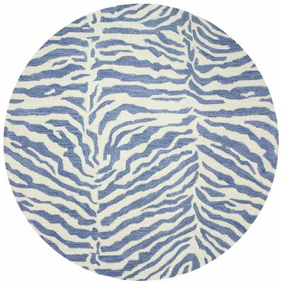 Abhay Hand-Tufted Blue Area Rug Rug Size: Round 8
