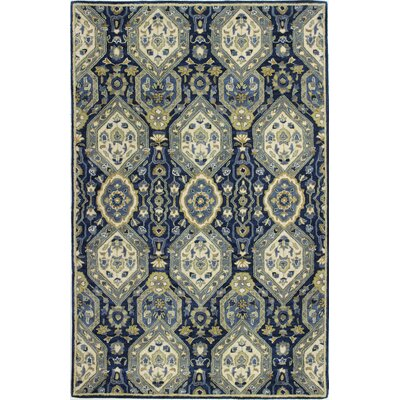 Vikram Hand-Tufted Navy Area Rug Rug Size: Rectangle 39 x 59