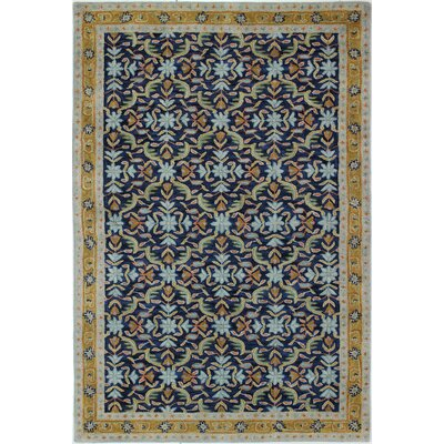 Bently Hand-Tufted Navy Area Rug Rug Size: 86 x 116