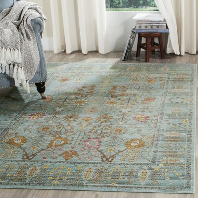 Inara Power Loom Steel Blue Indoor Area Rug Rug Size: 5 x 8