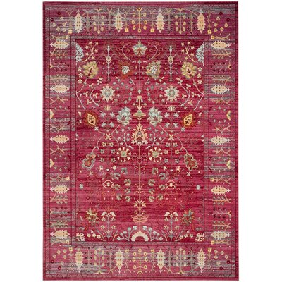 Emma Fuchsia Area Rug Rug Size: Rectangle 4 x 6