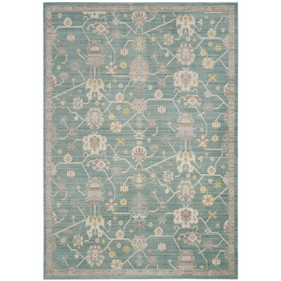Emma Blue Area Rug Rug Size: Rectangle 3 x 5