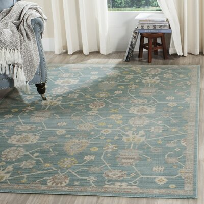 Emma Blue Area Rug Rug Size: Rectangle 6 x 9