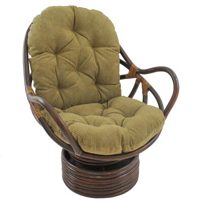 Gilles Rocker Chair with Cushion Fabric: Vermont