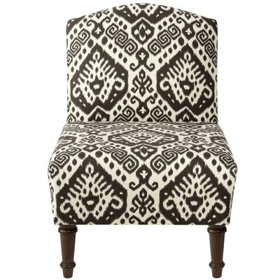 Springdale Camel Back Slipper Chair Upholstery: Safi Slate, Nailhead Detail: No Trim