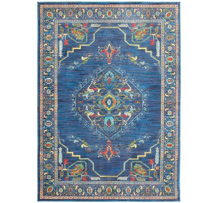 Saige Blue Area Rug Rug Size: Rectangle 53 x 76