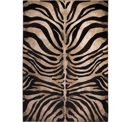 Abdellah Black/Ivory Area Rug Rug Size: 33 x 47