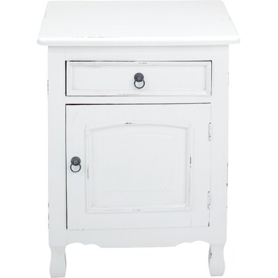 Abbad Nightstand Color: White