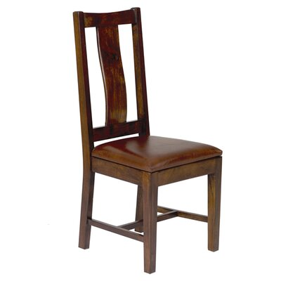 Angelica Genuine Leather Upholstered Dining Chair