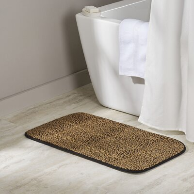 Shadai Leopard Faux Fur Bath Mat