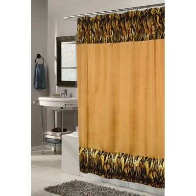 Shadai Panthera Faux Fur Trimmed Shower Curtain
