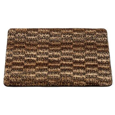 Ishanvi Cheetah Faux Fur Bath Mat