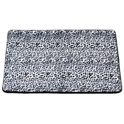Shadai Snow Leopard Faux Fur Bath Mat
