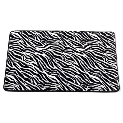 Shadai Zebra Faux Fur Bath Mat