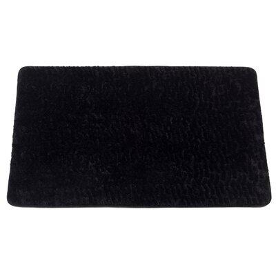 Ishanvi Sable Faux Fur Bath Mat Color: Black