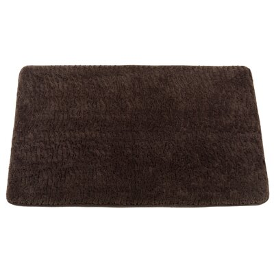 Shadai Sable Faux Fur Bath Mat Color: Brown