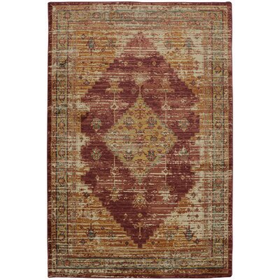 Donahue Berry/Marigold Area Rug Rug Size: Rectangle 5'3