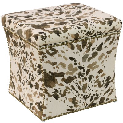 Gould Cow Natural Nail Button Storage Ottoman