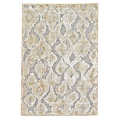 Ledesma Pewter/Brown Area Rug Rug Size: Rectangle 76 x 106