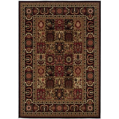 Chakra Brown/Black Area Rug Rug Size: Rectangle 53 x 76