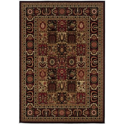 Chakra Brown/Black Area Rug Rug Size: 53 x 76