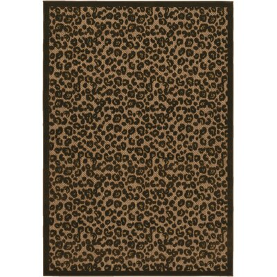 Ferry Tan/Brown Indoor/Outdoor Area Rug Rug Size: 52 x 76
