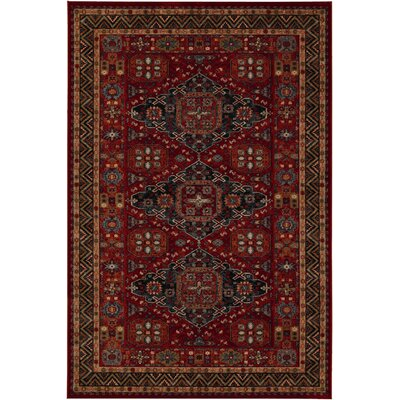 Faska Kashkai Burgundy Area Rug Rug Size: Rectangle 46 x 66