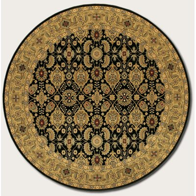 Chakra All Over Vase Beige/Black Area Rug Rug Size: Round 66