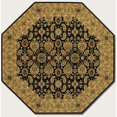 Chakra All Over Vase Beige/Black Area Rug Rug Size: 53 x 76