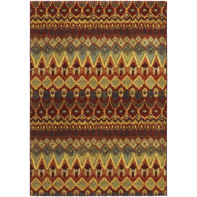 Dahab Red/Green Area Rug Rug Size: 53 x 76