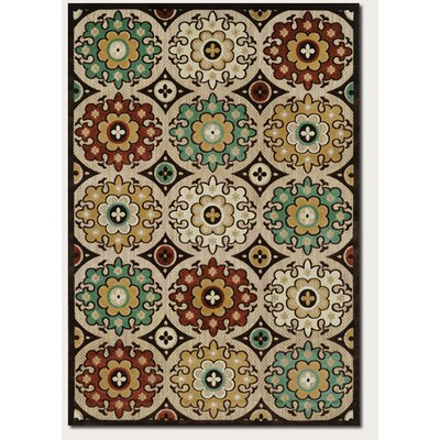 Ferry Ivory Indoor/Outdoor Area Rug Rug Size: 39 x 55
