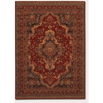 Faska Kerman Medallion Burgundy Area Rug